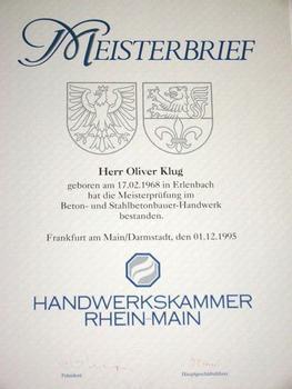 Stahlbetonbaumeister - Oliver Klug