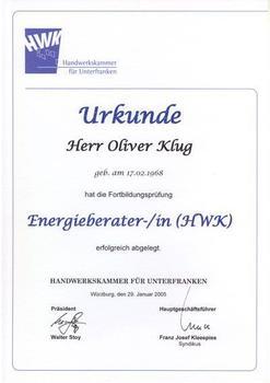 Energieberater - Oliver Klug