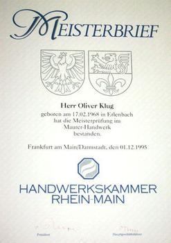 Maurer-Handwerk - Oliver Klug