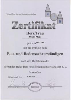 Sachverständigerprüfung - Oliver Klug